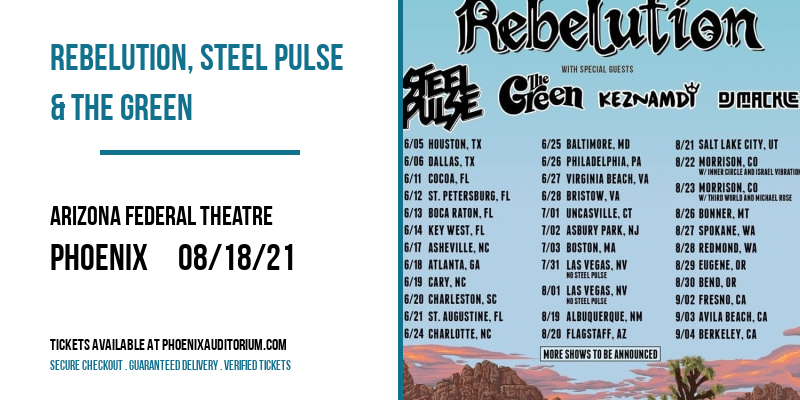 Rebelution, Steel Pulse & The Green at Arizona Federal Theatre
