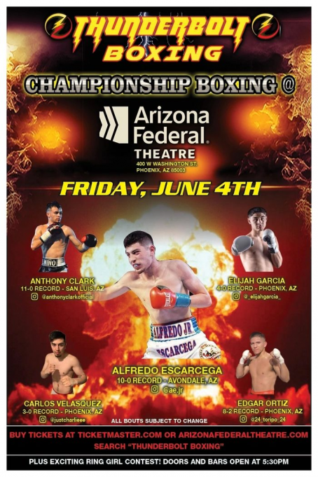 Thunderbolt Boxing at Arizona Federal Theatre